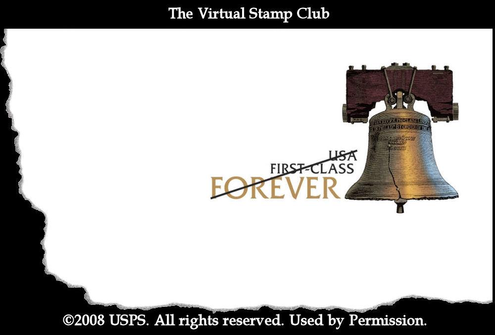 Forever stamped envelope (2009)