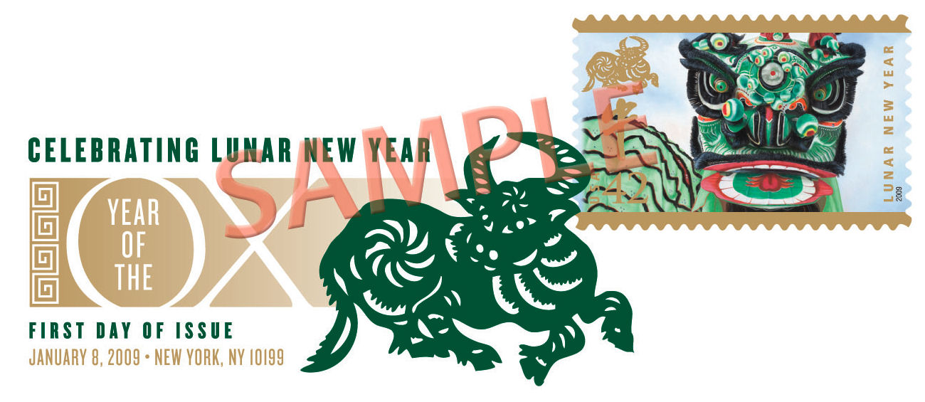 Lunar New Year - Ox DCP cancellation