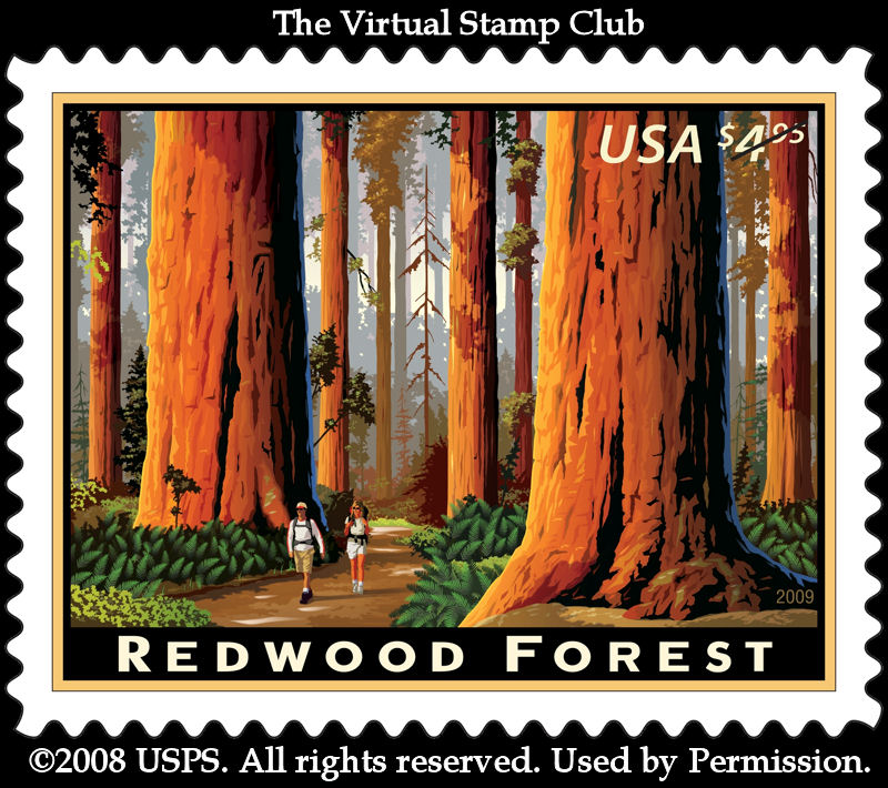 Stamp of Redwood Forest
