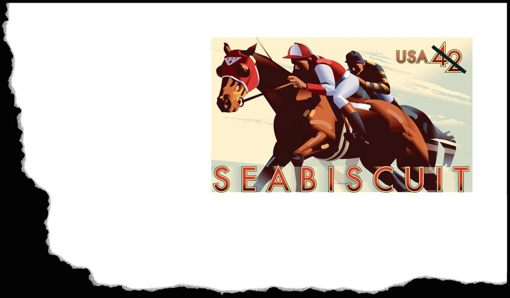 Seabiscuit stamped envelope (2009)